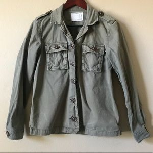 LIFE IN PROGRESS Army Green Jacket